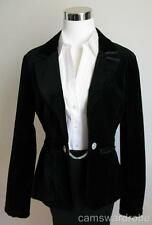 WHITE HOUSE BLACK MARKET Dressy Black Velvet Satin Trim Jacket Blazer Sz 6 NWOT