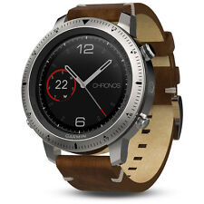 Garmin Fenix Chronos GPS Fitness Watch w/ Leather Band (010-01957-00)