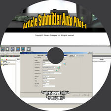 Article Submitter Software-Signs Up and Posts Articles - Increase Website Rank *