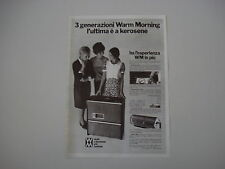 advertising Pubblicità 1969 STUFE WARM MORNING