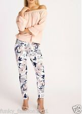 LADIES WOMENS GIRLS  FLORAL PRINT FULL LENGTH TROPICAL CREPE TROUSERS LEGGINGS