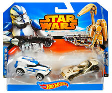 STAR WARS HOTWHEELS 501st CLONE TROOPER & BATTLE DROID 2 VEHICLE PACK