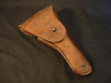 Old Vtg WW2 Military U.S. Graton & Knight Co Brown Leather Pistol Gun Holster