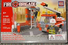 Fire Truck Simulator BricTek Building Block Construction Toy Brick Fire Brigade