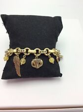 LUCKY BRAND Two-Tone Owl and Wing Charm Bracelet $39