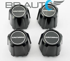 82-92 CHEVY CAMARO RS Z28 15x7 5-STAR ALUMINUM WHEEL CENTER CAPS SET NEW BLACK