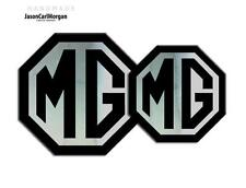 Black Chrome MG Emblem Badge Insert Fits TF LE500 Front Rear 70/90mm 2009 on