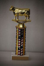 """10"""" Dairy Cow Trophy Award with free engraving"""