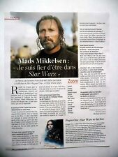 COUPURE DE PRESSE-CLIPPING : Mads MIKKELSEN 12/2016 Star Wars Rogue One