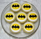 BATMAN CUP CAKE TOPPERS X 12 - APPROX 5.5CM WIDE