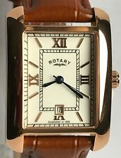 ROTARY GENTS LEATHER CLASSIC DATE WATCH