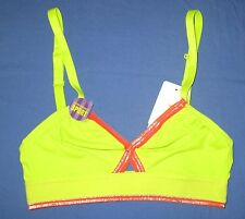 b. tempt'd Wacoal~36~952210~Lime Green Wire Free Strappy b. active Sports Bra