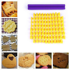 Alphabet Letter Numbe Cookie Cutters Press Stamp Embosser Cake Font seal Moulds