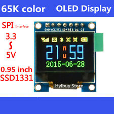 65K Color OLED LCD Display 3.3v 5v Serial SPI RGB LCM Module for Arduino Uno R3