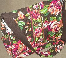 Diaper Bag Vera Bradley English Rose Handbag Messenger Satchel Purse NWT Roomy