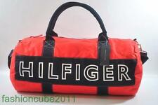 New With Tag Tommy Hilfiger Large Harbour Point Duffle  Gym Bag -Red