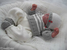 DK Baby Knitting Pattern #46 TO KNIT Baby Boys or Reborn Dolls Coming Home Set