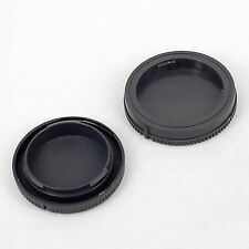 Camera Body + Rear Lens Cap Cover For Sony E-Mount NEX-3 5 6 7 5R 5T a6000 Grey