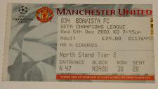 old ticket CL Manchester United England Boavista Porto Portugal