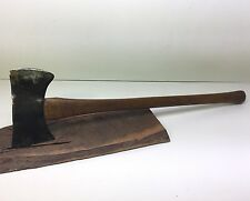 "Vintage 3 2 Double Bit Axe 28"" Handle Cruiser Saddle Little Beauty Really Cool"