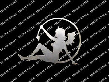 Devil Fairy Sexy Sinner Lady Nude Metal Wall Art Decor Made in USA