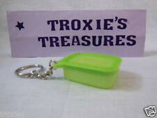 Tupperware Pak N Stor Base line Key Chain Green New Gadget