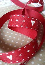 15mm Rustico Shabby Chic Cuore della barra multifunzione. ROSSO. SAN VALENTINO, regalo Wrap, artigianato, Card.
