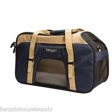 Bergan Top Loading Dog Cat Pet Airline Comfort Carrier Tote w/ Bed 19 x 10 x 13