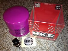 HKS Oil Filter + Magnetic Sump Plug for Subaru Impreza WRX Sti 2.5L