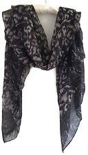 Classy Black and Grey Animal Print Scarf Pashmina Shawl Wrap Scarve New