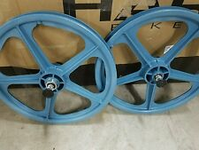 light blue skyway tuff 2 mag wheels street Beat styler ta old bmx freestyle bike