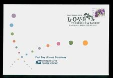 USA #4450 2010 44c Love Pansies in a Basket Stamp First Day Ceremony Program