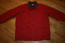 Marlboro Country Store lined Barn Coat Work Jacket Adult Large leather trim red