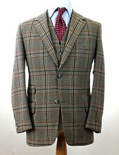 J.PRESS Irish Tweed Brown Red Windowpane Hunting TRAD Prep Jacket & Vest 42 R