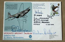 MOSQUITO AIRCRAFT MUSEUM 1975 COVER SIGNED BY JOHN CUNNINGHAM & PAT FILLINGHAM