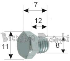 0735 - TAPPO SCARICO OLIO MOTORE VESPA 125 ET3 PRIMAVERA PK S XL FL2