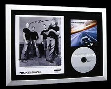 NICKELBACK+SIGNED+FRAMED+REASONS+ROCKSTAR+SILVER=100% AUTHENTIC+FAST GLOBAL SHIP