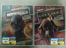 Pitch Black & The Chronicles of Riddick Blu Ray Limited Reel Heroes Steelbook