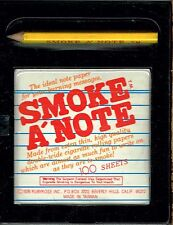 Lot of 12 Smoke A'Note, Pencil and 100 Sheet Note Pad Rolling Paper. BRAND NEW