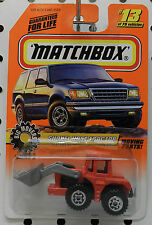 SHOVEL NOSE TRACTOR LOADER 2 RED BIG MOVERS 13 1998 MB MBX MATCHBOX