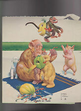 Lawson Wood Lot of 9 Chimpanzee Calendar Toppers 1940s
