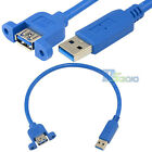 30cm 0.3m USB 3.0 A Male to Female Jack Socket Panel Mount Extension Cable Char