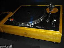 RoyLCraft custom Curly Maple base 4 Technics SL-1200MK2 1200 Made to Order ONLY