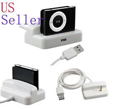 USB Charger & Sync Dock Cradle for Apple iPod Shuffle 2 2nd 3 3rd Gen 2G White