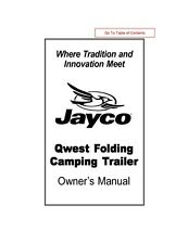 Jayco Fold-Down Pop-Up Tent Trailer Owners Manual- 2002 Qwest