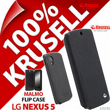New Krusell Malmo Flip Case For LG Nexus 5 Black Cover Wallet Folio  + Card Slot