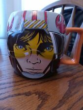 Disney Star Wars Luke Skywalker Jedi Knight Face Coffee Mug Fighter Pilot Helmet
