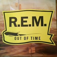Vtg REM Out Of Time 2 Sided Record Store Promo Poster
