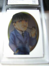 MOE HOWARD  2014 CHRONICLES OF THE THREE 3 STOOGES ARTIST CARD FOIL GRADED 10
