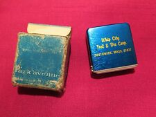 NOS vintage Park Avenue tape measure advertising WHIP CITY TOOL &DIE CORP in box